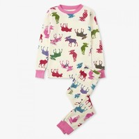 HATLEY PATTERNED MOOSE PAJAMA SET