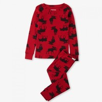 HATLEY MOOSE ON RED PAJAMAS