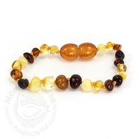 MOMMA GOOSE PRODUCTS ADULT AMBER HEALING BRACELET- MULTI POLISHED