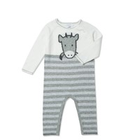 ANGEL DEAR ANGEL DEAR KNIT COW COVERALL & HAT SET