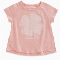 LUCKY BRAND LUCKY BRAND LACE TEE