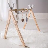 CLOVER & BIRCH NATURAL HARDWOOD ACTIVITY GYM