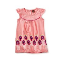 TEA FEATHER GRAPHIC BABY DRESS