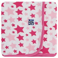 KICKEE PANTS PRINT SWADDLING BLANKET IN FLAMINGO STAR