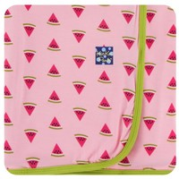 KICKEE PANTS PRINT SWADDLING BLANKET IN LOTUS WATERMELON