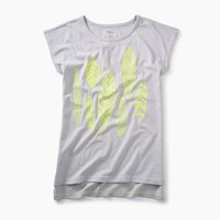 TEA NEON FEATHER GRAPHIC TUNIC
