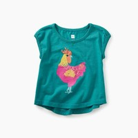 TEA ROOSTER GRAPHIC BABY TEE
