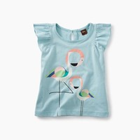 TEA FLAMINGO GRAPHIC BABY TEE