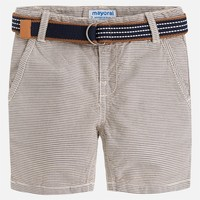 MAYORAL USA STRIPED SHORTS WITH BELT