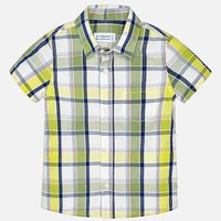 MAYORAL USA SHORT SLEEVE PLAID SHIRT