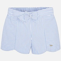 MAYORAL USA STRIPED SHORTS WITH RIBBON