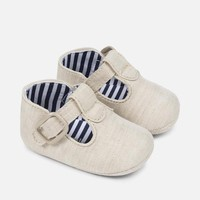 MAYORAL USA LINEN T-STRAP SHOES