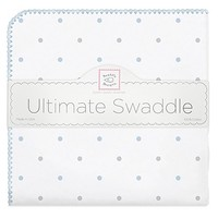 SWADDLE DESIGNS STERLING LITTLE DOTS WITH PASTEL ULTIMATE RECEIVING BLANKET