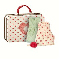 MAILEG MAILEG MOUSE SUITCASE W/2 SETS OF CLOTHES