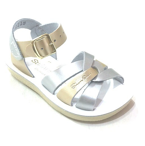 SALT WATER SANDALS SALT WATER SILVER & GOLD SWIMMER SANDAL