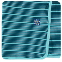 KICKEE PANTS KICKEE PANTS PRINT SWADDLING BLANKET IN SHINING SEA STRIPE