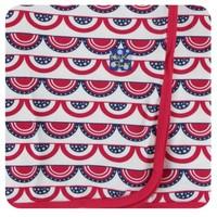 KICKEE PANTS KICKEE PANTS PRINT SWADDLING BLANKET IN FLAG SWAG