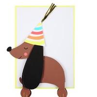 MERI MERI HONEYCOMB SAUSAGE DOG CARD