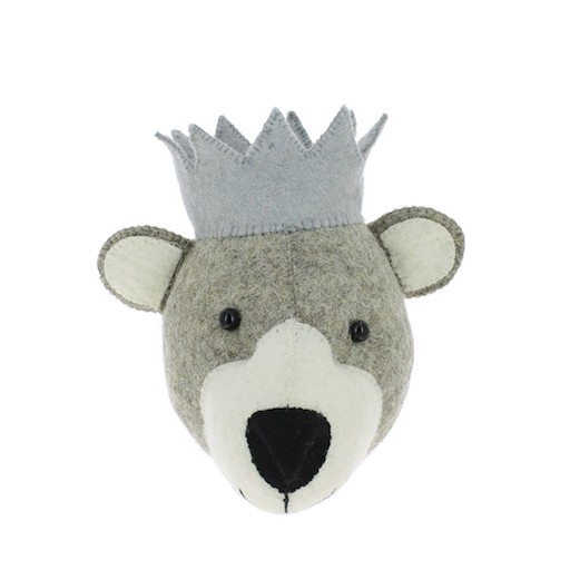 FIONA WALKER FIONA WALKER ENGLAND MINI BEAR HEAD WALL MOUNT