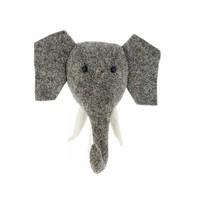 FIONA WALKER FIONA WALKER ENGLAND MINI ELEPHANT WITH TUSKS MOUNT