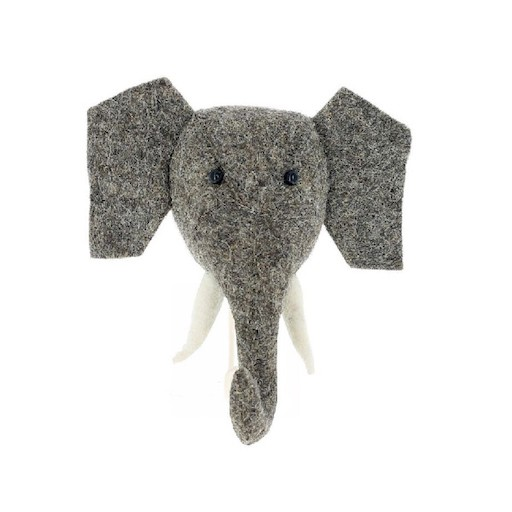 FIONA WALKER FIONA WALKER ENGLAND MINI ELEPHANT WITH TUSKS MOUNT