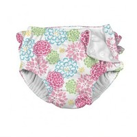 IPLAY INC REUSABLE ABSORBENT SNAP SWIM DIAPER-ZINNIA
