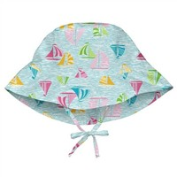 IPLAY INC BUCKET SUN PROTECTION HAT-AQUA SAILBOATS