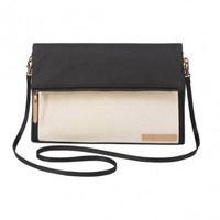 PETUNIA PICKLE BOTTOM PETUNIA PICKLE BOTTOM CROSSOVER CLUTCH IN BIRCH/BLACK
