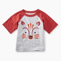 TEA FOX GRAPHIC BABY RAGLAN TEE
