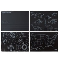 ANNABELLE NOEL CHALKBOARD VARIETY OF 4 PLACEMATS