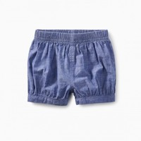 TEA CHAMBRAY BUBBLE SHORTS