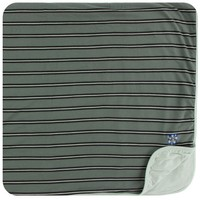 KICKEE PANTS PRINT TODDLER BLANKET IN SUCCULENT KENYA STRIPE
