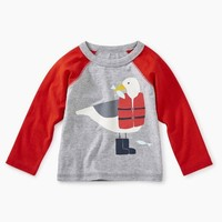 TEA SEAGULL RAGLAN GRAPHIC TEE