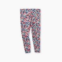 TEA CAPE FLORAL RIBBED BB LEGGINGS