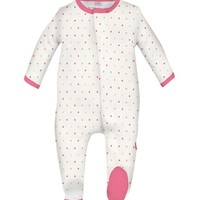 MAGNIFICENT BABY LOVEBIRD DOTS MAGNETIC FOOTIE