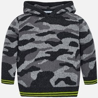 MAYORAL USA CAMOUFLAGE HOODED SWEATER