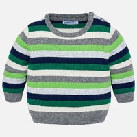 MAYORAL USA GREEN STRIPED SWEATER