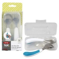 OXO OXO ON-THE-GO FORK & SPOON WITH TRAVEL CASE