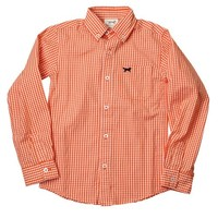 JACK THOMAS MINI GINGHAM LONG SLEEVE SHIRT