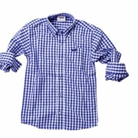 JACK THOMAS GINGHAM LONG SLEEVE SHIRT BLUE MOON