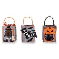 MUD PIE MINI FELT HALLOWEEN TREAT BAGS