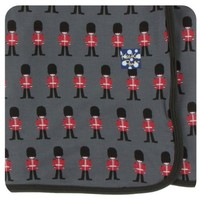 KICKEE PANTS PRINT SWADDLING BLANKET IN QUEENS GUARD