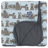 KICKEE PANTS PRINT TODDLER BLANKET IN LONDON DOGS