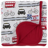 KICKEE PANTS PRINT STROLLER BLANKET IN LONDON TRANSPORT
