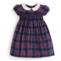 JOJO MAMAN BEBE SMOCKED PLAID PARTY DRESS