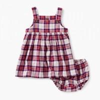 TEA FLANNEL BABY DRESS