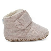 TOMS SHOES ROSE CLOUD TWILL GLIMMER  TINY TOMS CUNA CRIB SHOES