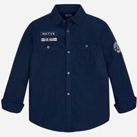 MAYORAL USA LONG SLEEVED SHIRT WITH PATCHES