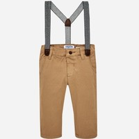 MAYORAL USA SLIM FIT CHINO PANTS WITH SUSPENDERS