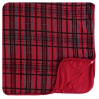 KICKEE PANTS HOLIDAY TODDLER BLANKET IN CHRISTMAS PLAID